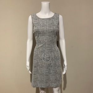NWT Tahari Black and White Tweed Sleeveless Sheath